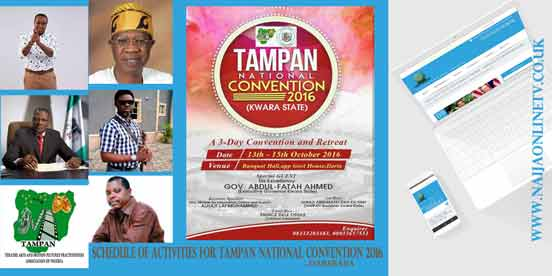 SCHEDULE OF ACTIVITIES FOR TAMPAN NATIONAL CONVENTION 2016