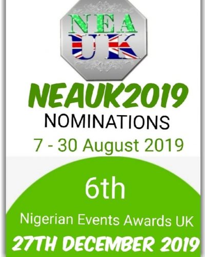 Details On Nigerian Events Awards UK 2019, How To Nominate